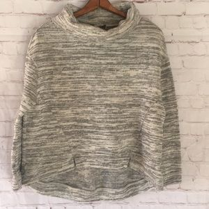 Saturday Sunday marled gray cowl neck sweater Med